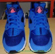 Masculino Azul 318429-402 Nike Air Huarache chuteiras venda
