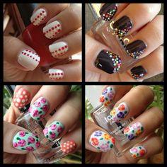 Dotting tool manicures Set #4