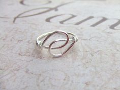 Holding Hands Friendship Ring Wire Wrapped Ring.