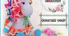 I share this rainbow unicorn's pattern with you in Eng. Crochet Unicorn Pattern, Cat Pattern, Crochet Patterns Amigurumi, Amigurumi Doll, Crochet Dolls, Free Pattern, Half Double Crochet, Single Crochet, Rainbow Unicorn