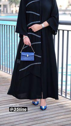 Image may contain: one or more people and people standing Modesty Fashion, Abaya Fashion, Muslim Fashion, Fashion Dresses, Estilo Abaya, Abaya Pattern, Black Abaya, Mode Abaya, Abaya Designs