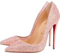 6210485df16 Christian Louboutin Pompadour Glitter Pink So Kate 120 Dragonfly Pumps Size  US 10 Regular (M