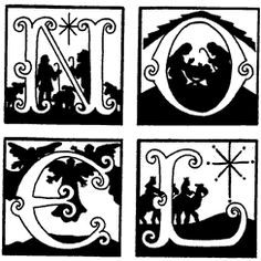Unmounted Rubber Stamp, Nativity Stamps, Christmas & Holiday, Christian, NOEL