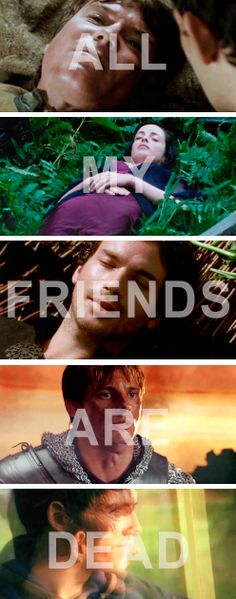 Poor Merlin, this is just depressing. Best Tv Shows, Best Shows Ever, Favorite Tv Shows, Movies And Tv Shows, Colin Morgan, Bbc, All My Friends Are Dead, Merlin Fandom, Merlin And Arthur