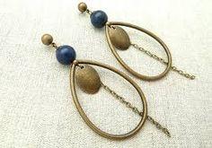 """Résultat de recherche d'images pour """"boucle d'oreille lapis lazuli"""""""