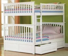 Atlantic Furniture White Full Size Bunk Bed Kids Bedroom Furniture columbia full bunk beds and full size bunkbeds