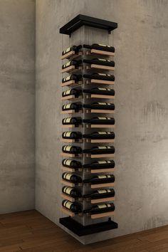 Glass Wine Cellar, Home Wine Cellars, Wine Cellar Racks, Wine Rack Design, Cellar Design, Wall Hanging Wine Rack, Modern Wine Rack, Wine Rack Storage, Cool Wine Racks