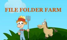 "File Folder Farm. free printable file folder games...look on the right hand side and click on ""2nd Grade"""