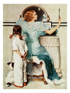 """Going Out"", October 21,1933 Giclee Print by Norman Rockwell at AllPosters.com for Bathroom."
