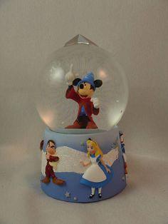 Mickey Fantasia Sorcerer's Apprentice Snowglobe Disney Store Bambi Grumpy Alice #DisneyStore