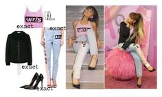 """""""ariana grande by M.A.C. viva glam press day"""" by leigh-jena ❤ liked on Polyvore featuring Au Jour Le Jour, Alexander Wang, Jimmy Choo and Balenciaga"""