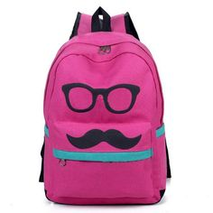 Type: Backpacks     Usage of People: Men Women     Material: Canvas      Product Name: Super Design Big Beard Mustache Eye Double Shoulder Bag Pouch Tourism Leisure Backpack Schoolbag for Students Ladies Mixed More Colors     Item Code: 158536056     Quantity: 1   Piece     Package S...