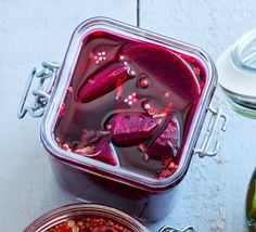 Preserve roasted beetroot in a sweet and spiced vinegar to make this punchy, classic accompaniment to cold meats and cheeses Bbc Good Food Recipes, Cooking Recipes, Beetroot Recipes, Kilner Jars, Pickled Beets, Chilli Flakes, White Wine Vinegar, Meat And Cheese, Coriander Seeds