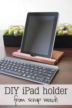 Scrap wood iPad holder...also a good idea about transferring images onto wood