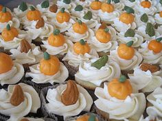 fall themed mini cupcakes