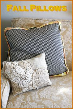 #Fall Pillows from Chicks Who Give A Hoot