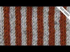 Simple Vertical Stripes Stitch :: Knitting :: New Stitch a Day