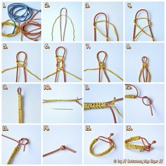 Easy braided bracelets by // Between the Lines //, via Flickr