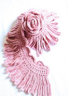 Boa scarf. No pattern but this looks easy enough to figure out.