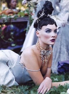 Michelle Behennah by Steven Meisel for Vogue Fairy inspiration