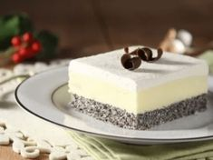 Lahodný dezert bez mouky: Jednoduché makové kostky s krémem a šlehačkou! Vanilla Cake, Cake Recipes, Diy And Crafts, Cheesecake, Food And Drink, Low Carb, Cooking Recipes, Gluten Free, Sweets