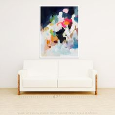 Eliza by Parima Studio // abstract pink blue art