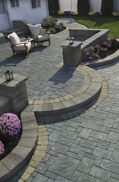 Making a Grand Entrance. Update your curb appeal and entryway with hardscaping by Cambridge Pavingstones with Armortec.