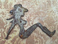 Mud Flap Girl Rusted Wall Hanging Country Western Girl
