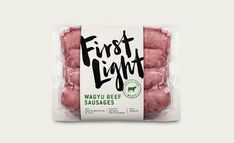 The Organic and Bold Packaging of First Light Meat — The Dieline - Branding & Packaging Design Vacuum Packaging, Bakery Packaging, Food Packaging Design, Packaging Design Inspiration, Brand Packaging, Product Packaging, Logo Inspiration, Food Graphic Design, Design Design
