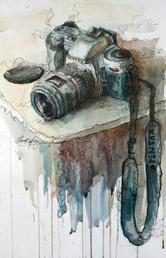 Sulu biya calismasi kamera.