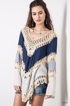 7a383ea0fa Multicolor Long Sleeve Crochet Kimono 2015. Fashion TopStyle FashionFashion  WomenBohemian ...