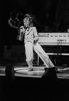 David Bowie in performance circa 1970 New York