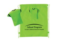 Get a load of this! Our amazing printed drawstring t-shirt backpack folds into a t-shirt pouch when not in use. Whoa! Its unique design makes for a great conversation starter at conferences and trade shows. Also perfect giveaway for schools. Order now for just $2.80 each. #PromoProducts #TradeShows #Giveaways