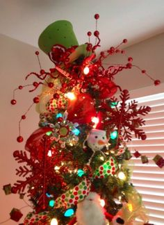 2013 Christmas Tree Topper, Christmas Tree Topper For 2013, Green Hat  Christmas Tree Topper