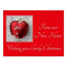 Merry Christmas from New Address Card - christmas cards merry xmas family party holidays cyo diy greeting card