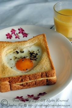 Baked Egg and Cheese Toast. Eggs in a basket! Use silly egg shapers to make cute cut-outs!