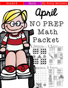 ******PRE-SALE PRICE!!!*******This April NO PREP Math packet that will keep your sixth graders engaged! This packet is just plain fun. Not only is it PACKED with sixth-grade common core math problems, it also gives students fun coloring, puzzles, and problem solving.