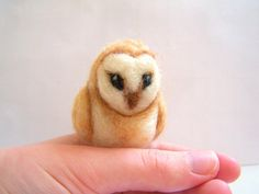 beautiful felted owl from Knittynudo's shop on etsy