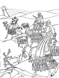 Another Wise Men Coloring Page Dia de los Reyes Pinterest