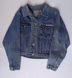 No Excuses Dungarees Lasting Value Denim Blue Jean Jacket 4 Pocket Womens Large #NoExcuses #JeanJacket