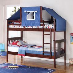 Harriet Bee Auvergne Twin Over Bunk Bed Color Cuccino