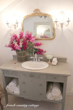 in love with this...i need such a girly bathroom!