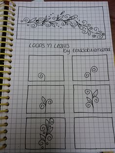 loops 'n Leaves tangle   Flickr - Photo Sharing!