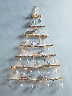 Trendy diy christmas tree decorations for kids xmas 27 ideas Easy Christmas Crafts, Diy Christmas Tree, Christmas Gift Tags, Rustic Christmas, Christmas Projects, Christmas Ornaments, Christmas 2016, Christmas Tree Branches, Outdoor Christmas