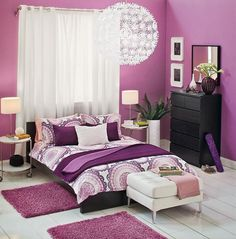 Pantones Color of the year 2014 - radiant orchid in an Ikea bedroom