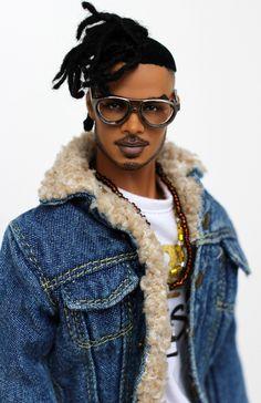Erik killmonger from Black Panther African Dolls, African American Dolls, American Art, Fashion Royalty Dolls, Fashion Dolls, Diva Dolls, Boy Barbie Dolls, Barbie Dress, Erik Killmonger