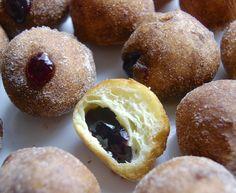 Chanukah Jelly Doughnuts via @kingarthurflour