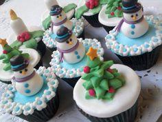 Cupcakes navideños #cupcakes #food