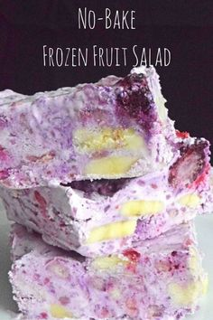No-Bake Frozen Fruit Salad, A Perfect Summer Dessert - plus it's naturally gluten free! #blessedbeyondcrazy #spon #eBay