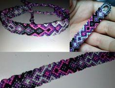 Added by zumotameka Friendship bracelet pattern 2205 #friendship #bracelet #wristband #craft #handmade #diy #chevron #arrows